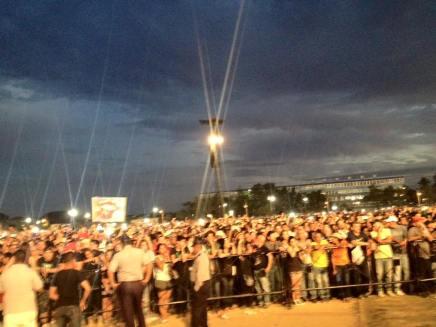 Hunderttausende Zuschauer