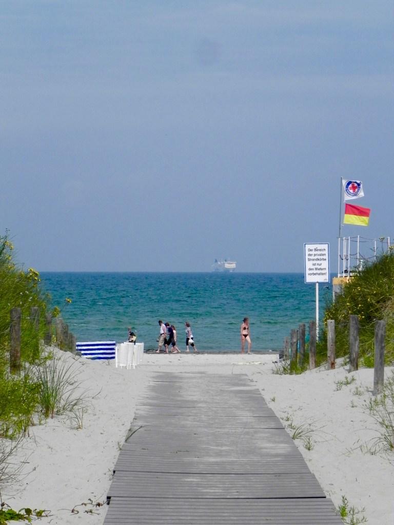 Warnmünde Ostsee Urlaubstipis Blick auf den Strand