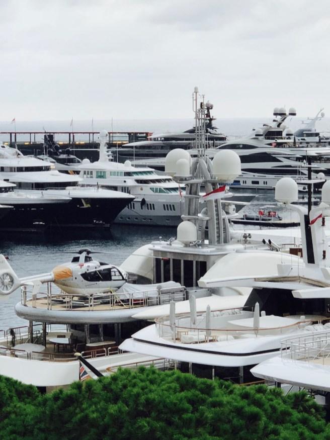 Yacht Monaco Helikopter
