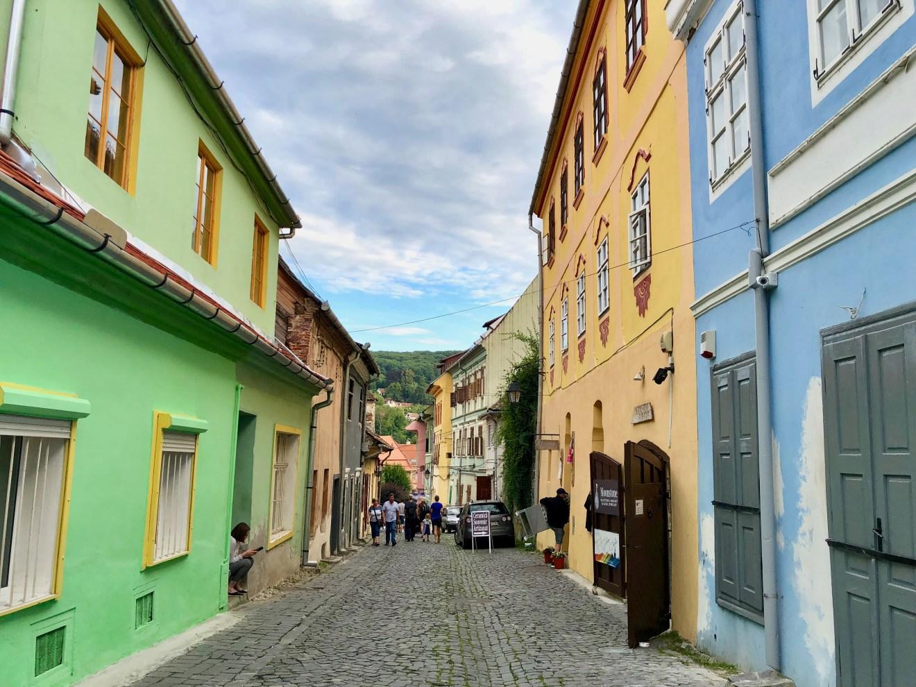 bunte Häuser Sighesoara Rumänien