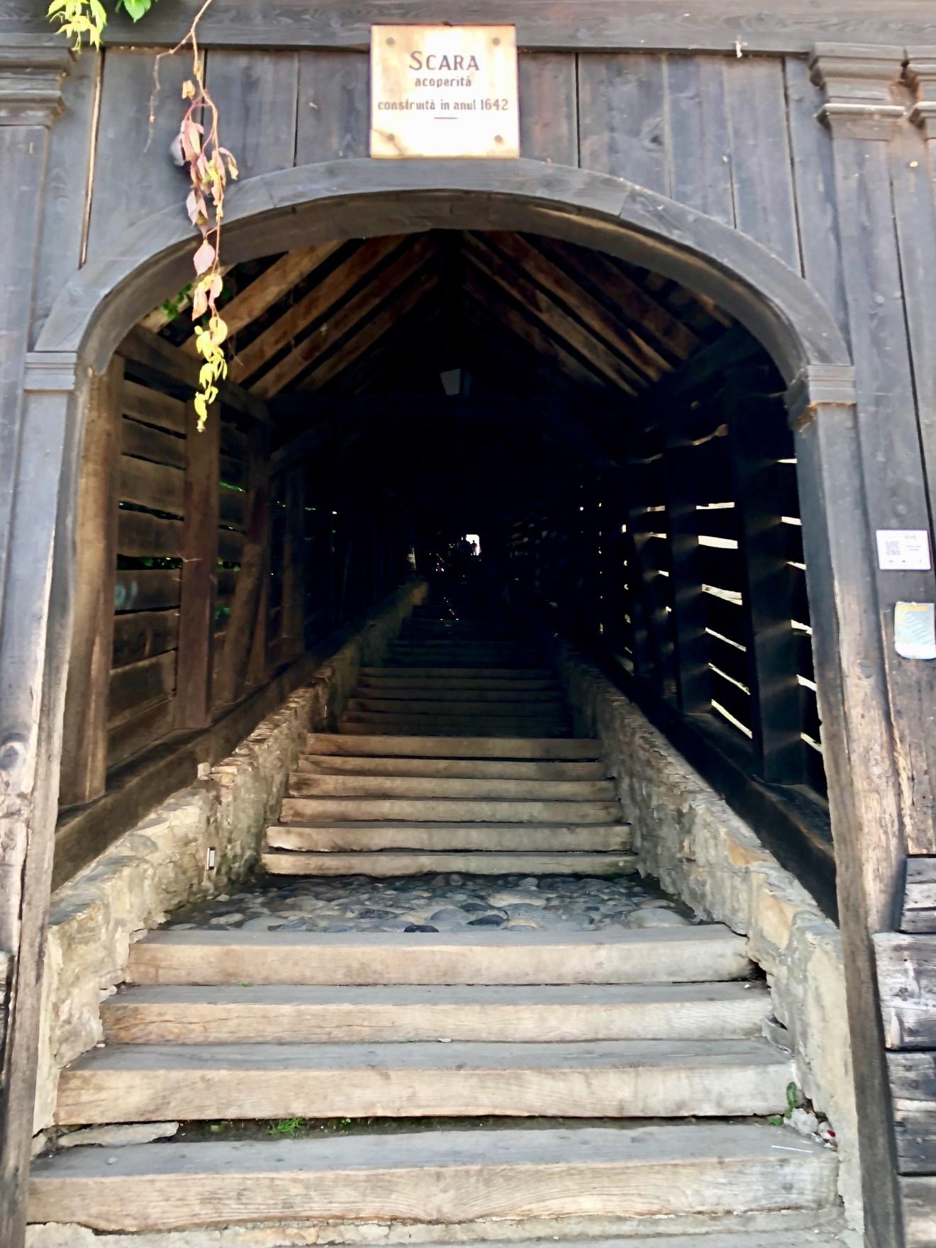 Überdachte Treppe in Sighesoara Rumänien