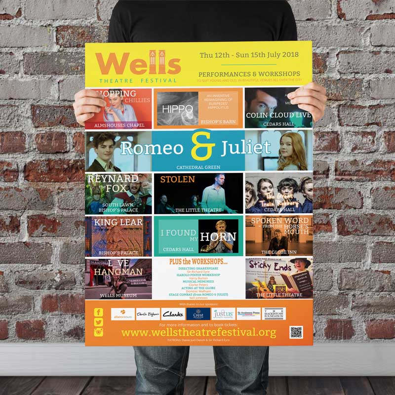 Wells Theatre Festival poster by Just Us