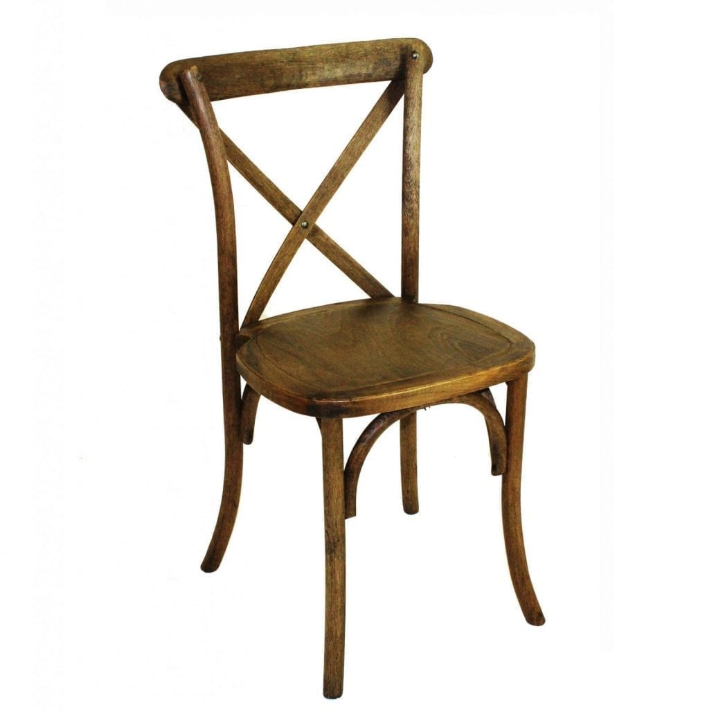 Rent Oak Cross Back Chairs Just 4 Fun Party Rentals