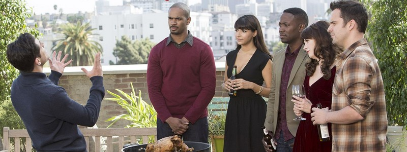 Les colocataires de New Girl à Thanksgiving