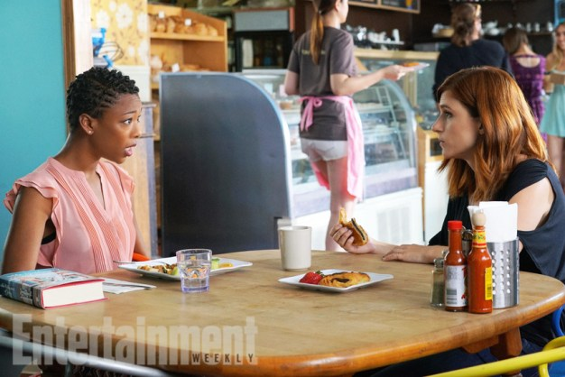"YOU'RE THE WORST -- ""Bad News: Dude's Dead"" -- Episode 303 -- Pictured: (l-r) Samira Wiley as Justina, Aya Cash as Gretchen. CR: Byron Cohen/FX"