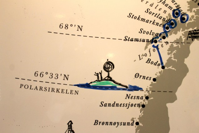 Map Showing the Ship's Route