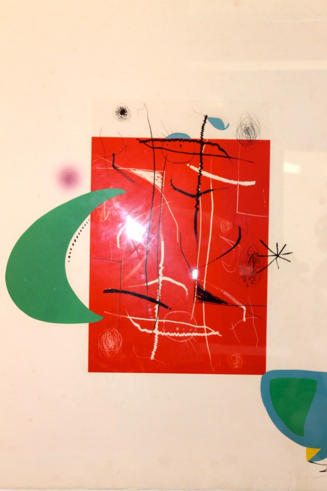 Miro painting in station in Palma de Mallorca
