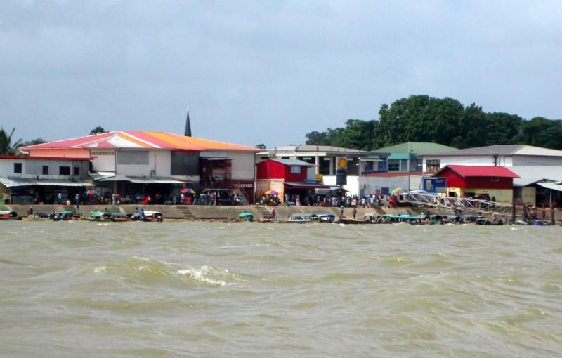 River bank in Albina, Surniname