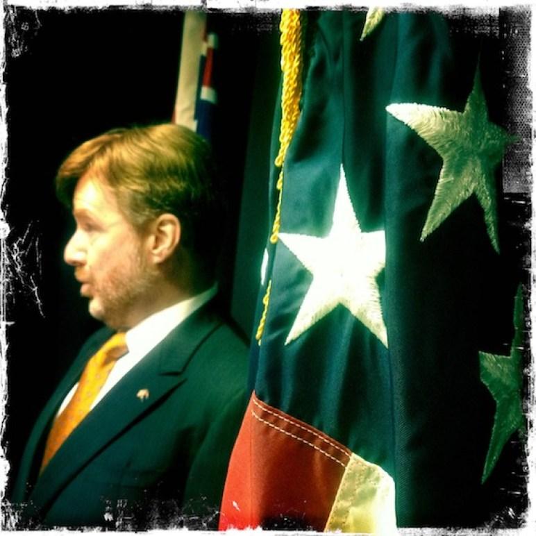 David Huebner flag