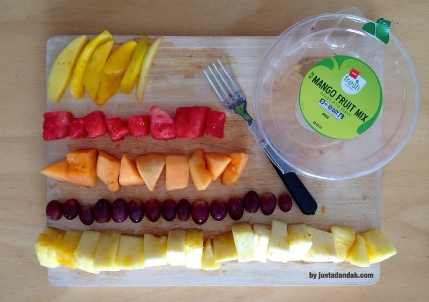 mango fruit mix deconstructed