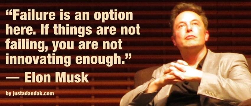 elon musk innovating quote