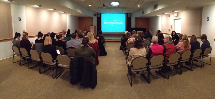 new canaan library crowd