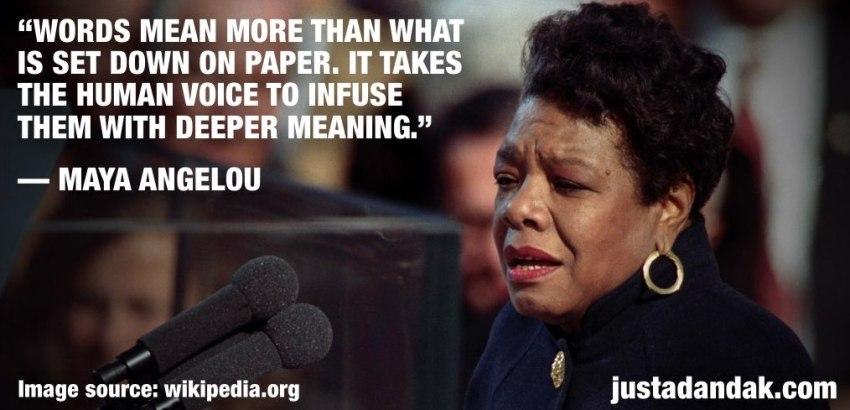 Maya Angelou words quote