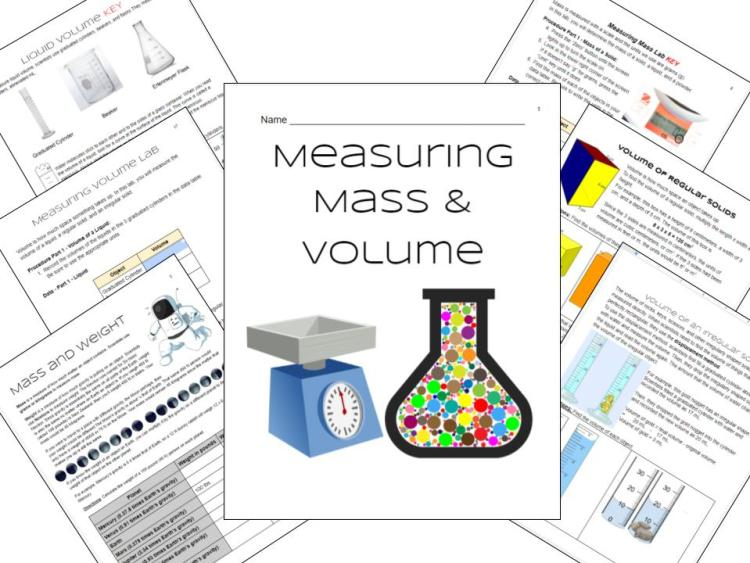 veteran science teacher writes her first blog about measuring mass and volume