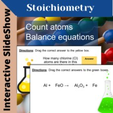 stoichiometry interactive google slideshow task cards