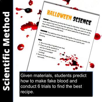 Halloween STEM fake blood