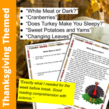 science of thanksgiving