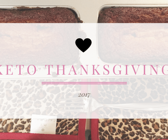 Keto Thanksgiving banner with photo of the bread in the pan