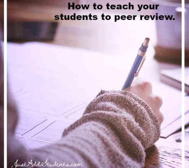 How to teach students to peer review