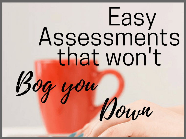 easy assessments that won't bog you down