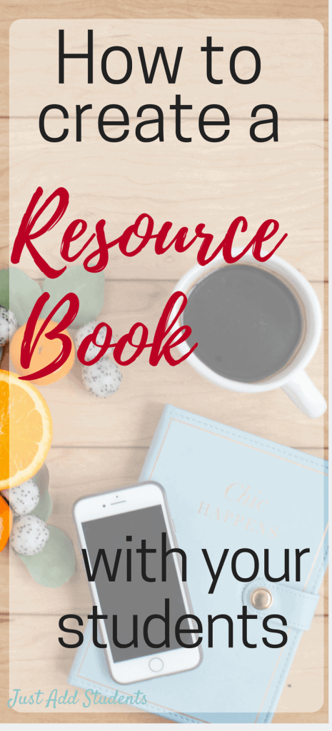How to create a resource book with your students.
