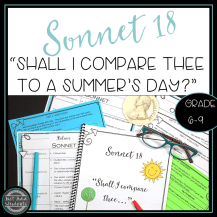 Analyze this wonderful sonnet -- and then have your students write their own original ones!