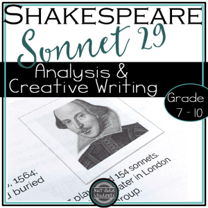 Help your students analyze this sonnet and then write their own!