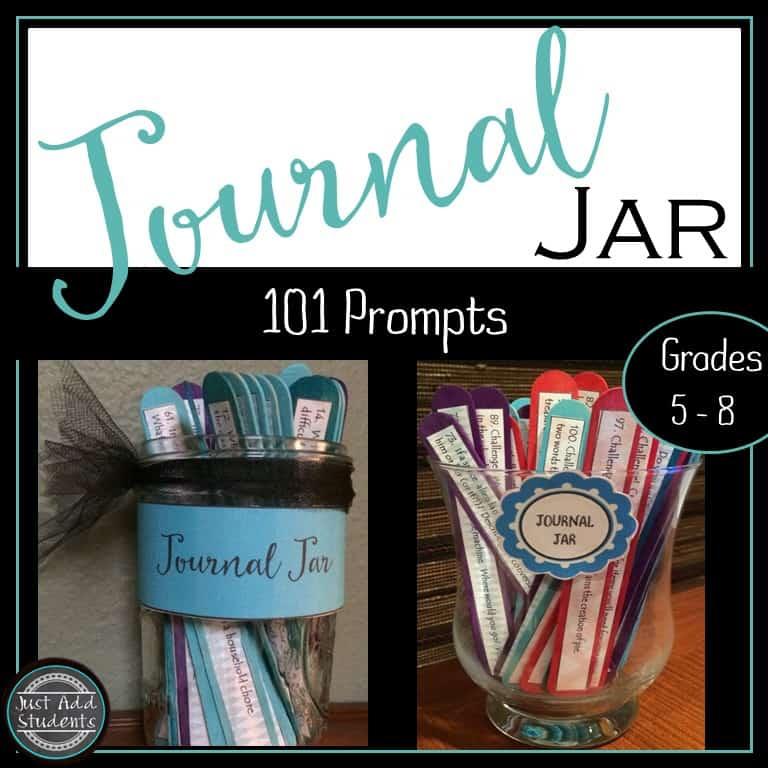 Journal Prompts for Middle School: Journal Jar Kit