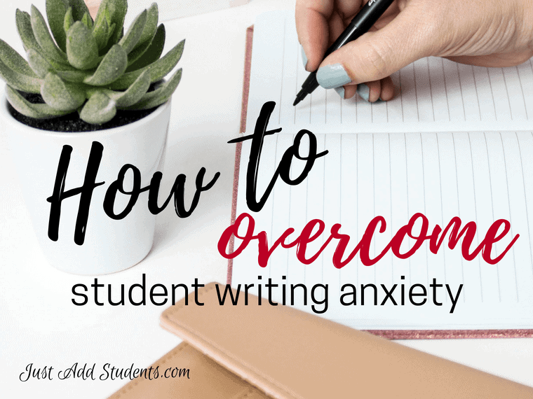 Help your students overcome writing anxiety with these 15 tips. Build writing confidence - great tools for writing workshop, literacy centers, and whole class instruction. Helpful for test prep as well.