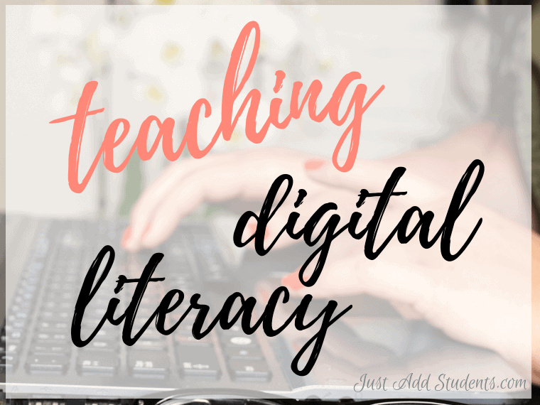 Ready to teach digital literacy skills to middle school? Click through for 10 tips to teach digital citizenship and critical thinking.