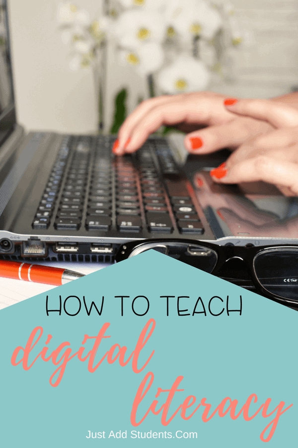 Teaching digital literacy in middle school is important.  Click through to find 10 tips for effective ways to teach digital citizenship and critical thinking skills.