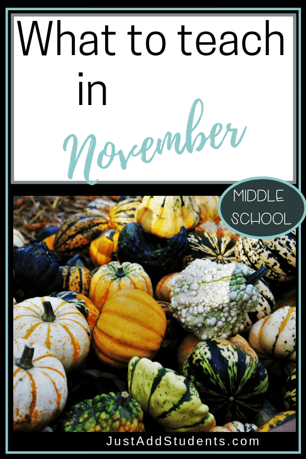 Want ideas for what to teach in November?  Click through for 12 of them!