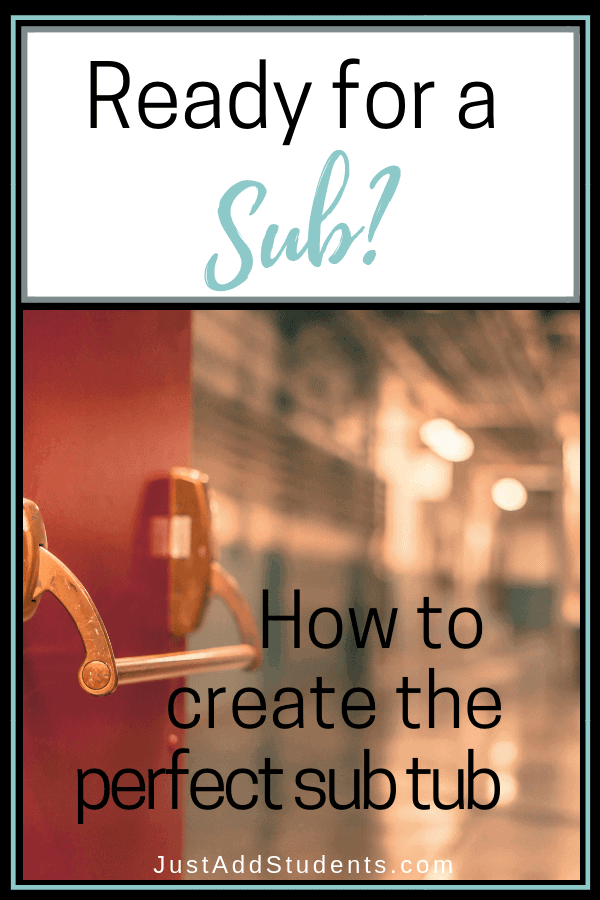 Need sub plans?  Prepare emergency sub plans with this quick guide.  Don't get caught unprepared!  It's easier than you think!