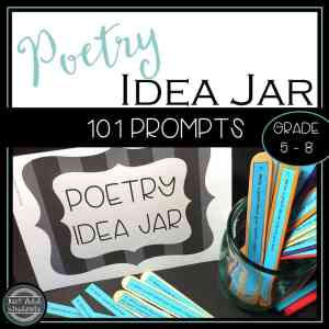 Never run out of ideas for what to write about! Poetry writing prompts!