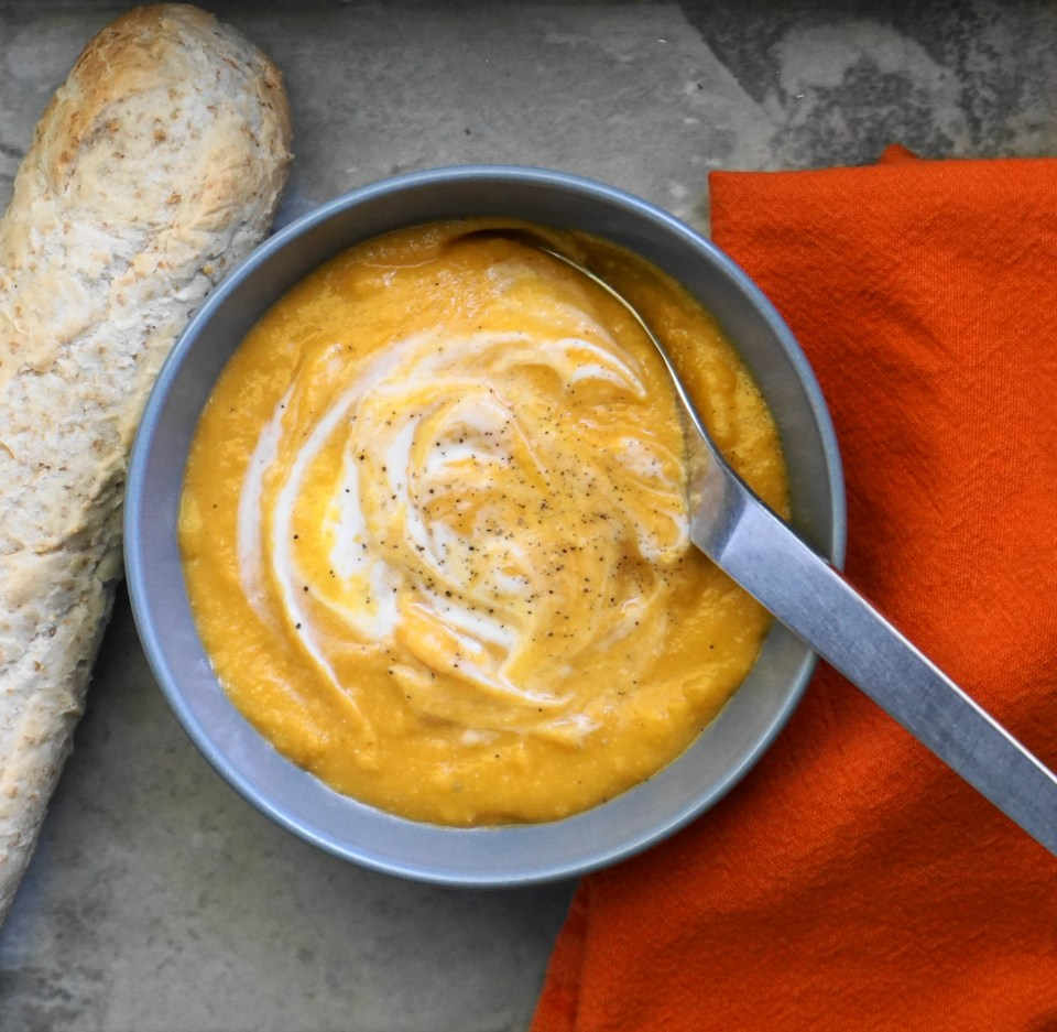 Carrot and red lentil soup 3