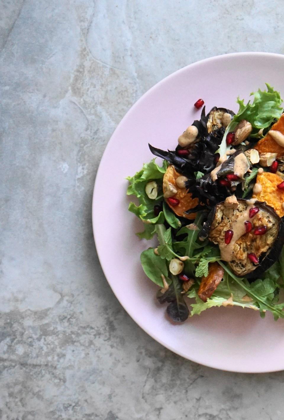 Roasted veg salad kiwi dressing4