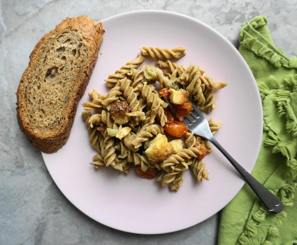 Haloumi pasta plate 3