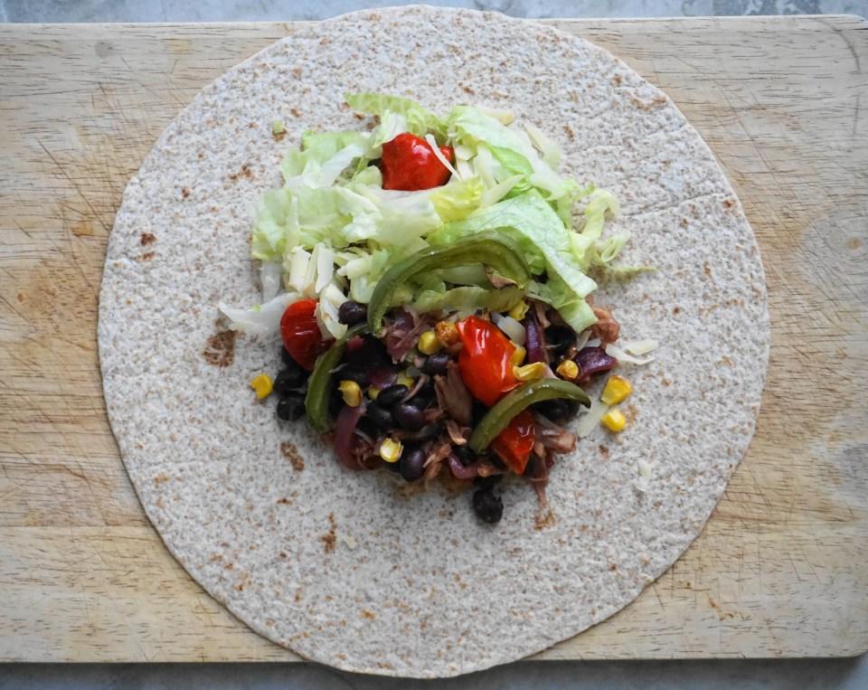 Jackfruit burrito 1