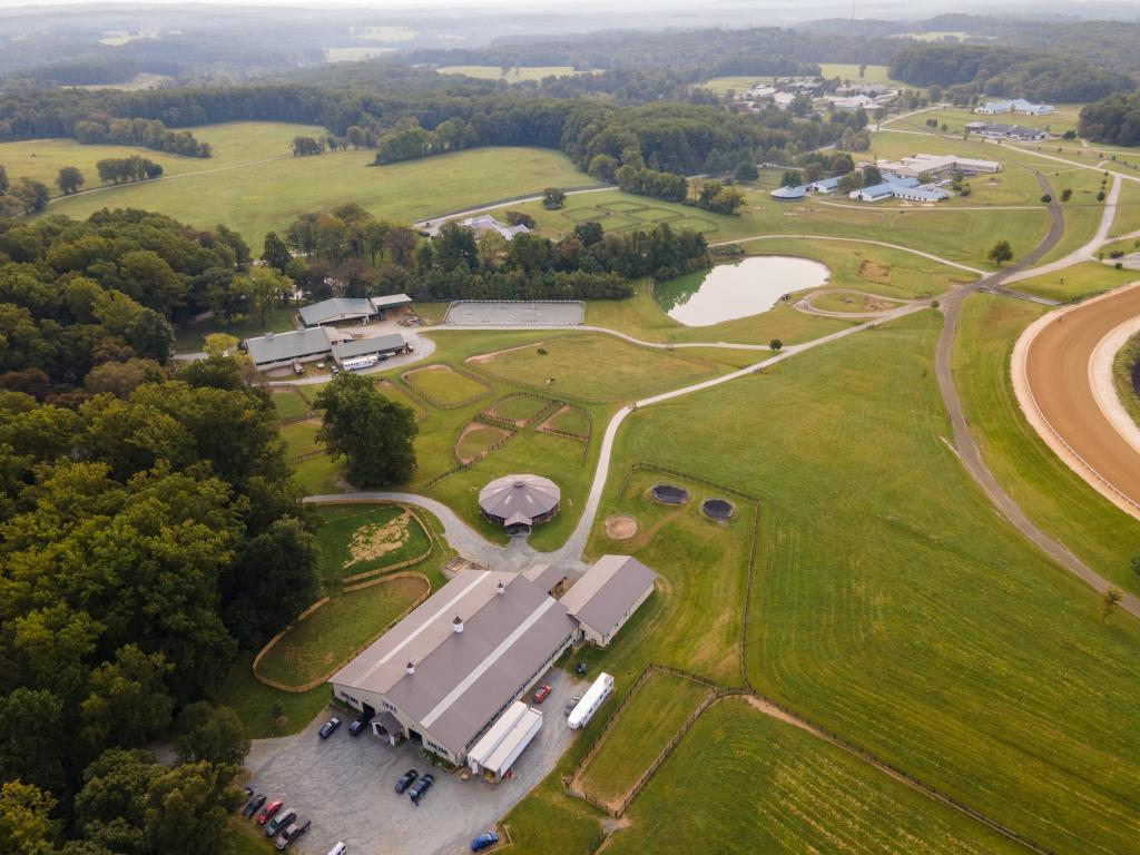 An overview of Fair Hill Racehorse Training Facility.