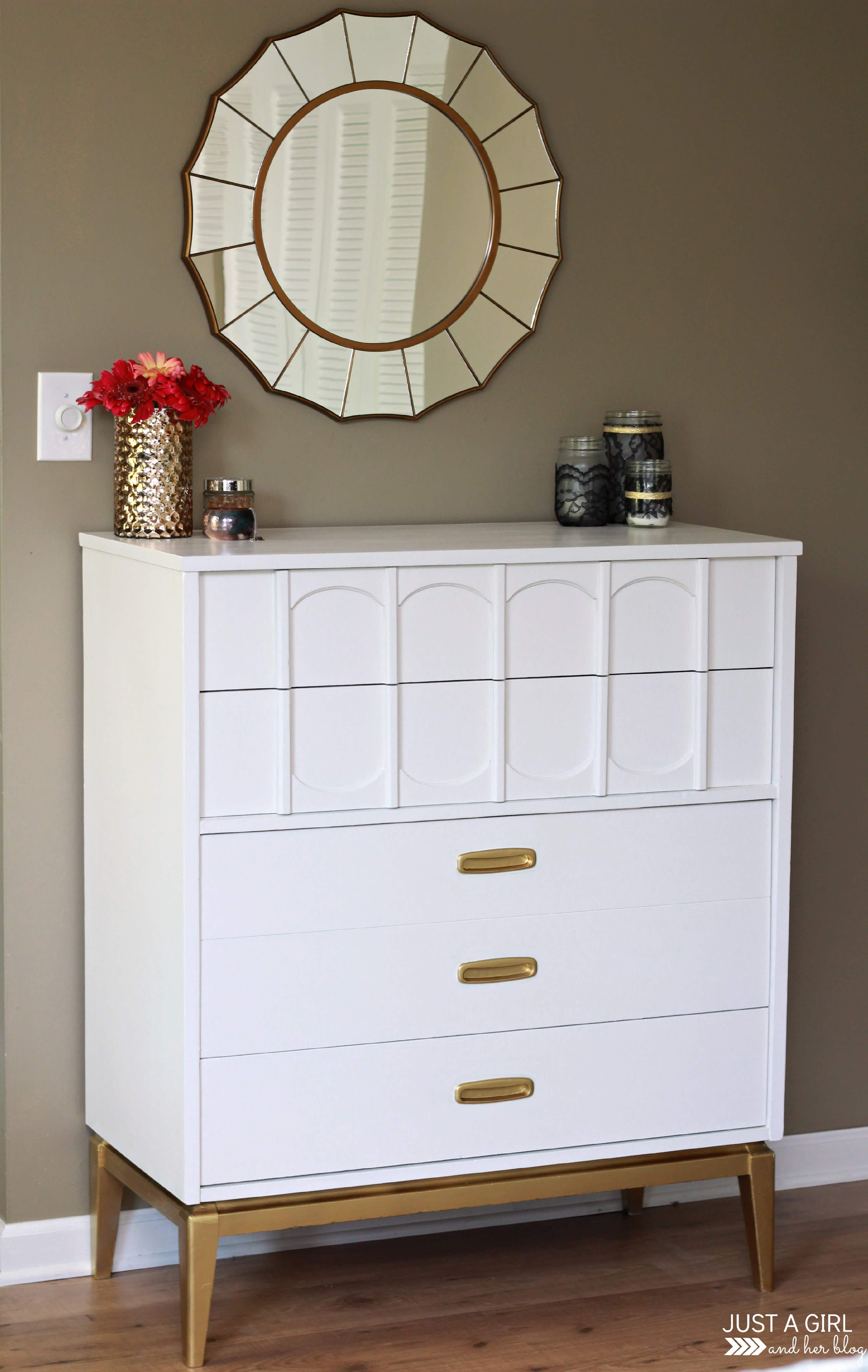 A Gold And White Dresser Just A Girl And Her Blog