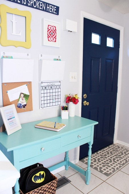 colorful entryway paint