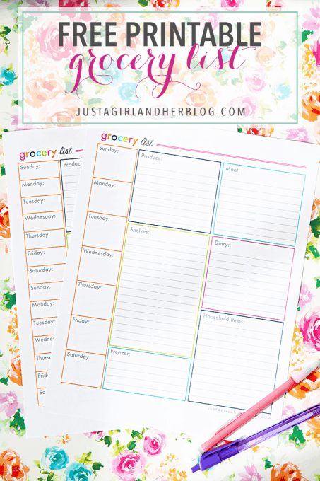 Click the picture to get the Printable Shopping List