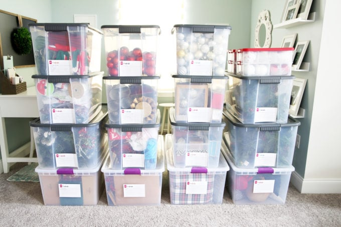 How To Organize Storage Bins With FREE Printables
