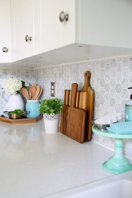 Installing Quartz Countertops for Orchard House Kitchen ... on Kitchen Counter Decor  id=81880