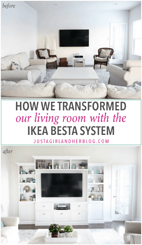 Transforming Our Living Room With Ikea Besta Built Ins