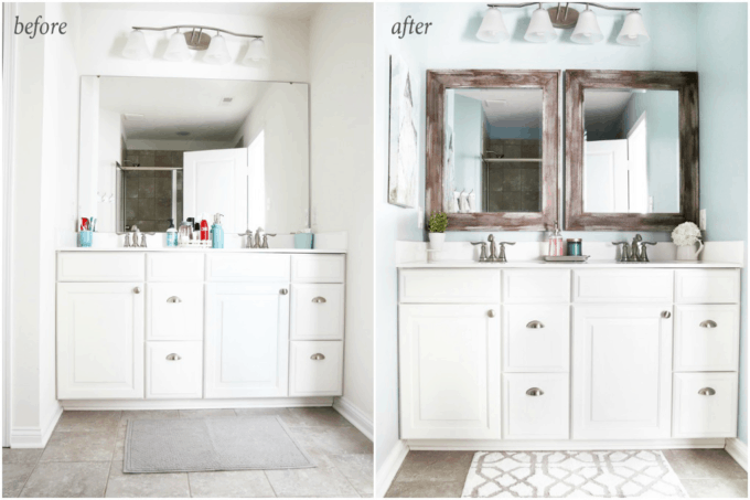 This Post Shares Simple But Brilliant Ideas For Updating Your Builder Grade Master Bathroom In A