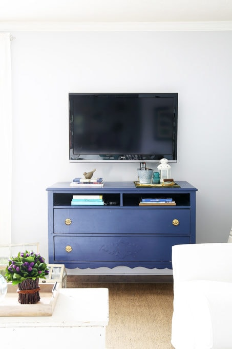 Craigslist Dresser Turned TV Stand Upcycle