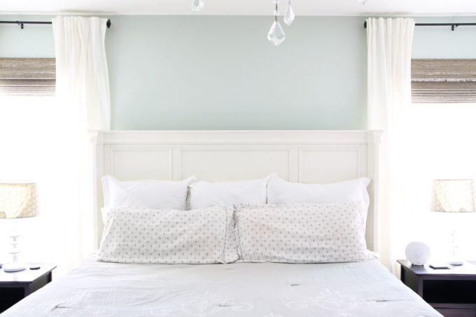 Master Bedroom Painted Sherwin Williams Sea Salt