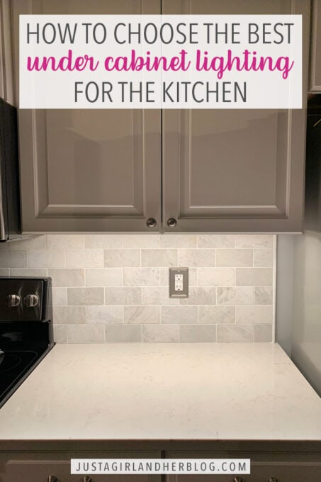 choosing under cabinet lighting for the