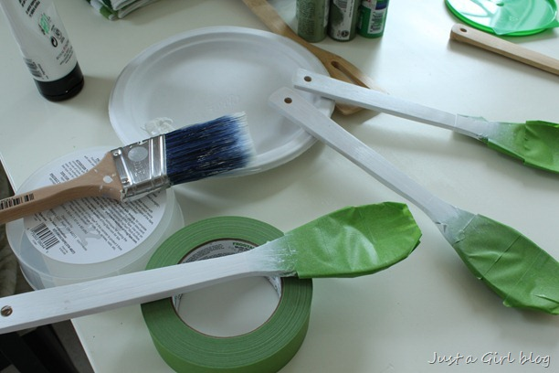 painting serving spoons